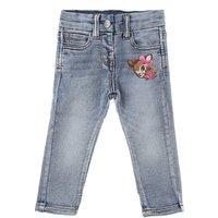 Monnalisa Baby Jeans for Girls, Denim Light Blue, Cotton, 2019, 12M 18M 2Y 6M 9M