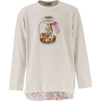 Monnalisa Kids T-Shirt for Girls On Sale in Outlet, White, Cotton, 2017, 2Y 3Y