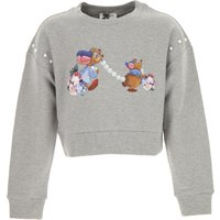 Monnalisa Kids Sweatshirts & Hoodies for Girls, Grey, Cotton, 2019, 10Y 2Y 4Y 5Y 6Y 8Y