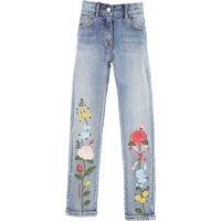 Monnalisa Kids Jeans for Girls On Sale in Outlet, Denim Light Blue, Cotton, 2019, 2Y 4Y 6Y