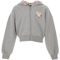 Monnalisa Kids Sweatshirts & Hoodies for Girls On Sale in Outlet, Grey, Cotton, 2021, 3Y 5Y