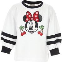 Monnalisa Kids Sweatshirts & Hoodies for Girls On Sale, White, Cotton, 2019, 10Y 12Y 2Y 3Y 4Y 5Y 6Y