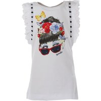 Monnalisa Kids T-Shirt for Girls On Sale in Outlet, White, Cotton, 2017, 2Y 3Y 4Y 5Y 6Y