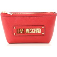 Moschino Makeup Bag Cosmetic Case for Women, Red, polyurethane, 2019