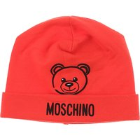 Moschino Baby Hats for Boys, Red, Cotton, 2019, I III