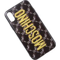 Moschino iPhone Cases, Black, Rubber, 2019