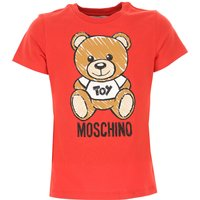 Moschino Kids T-Shirt for Girls, Red, Cotton, 2019, 10Y 14Y 4Y 6Y