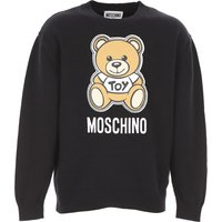 Moschino Kids Sweaters for Girls On Sale, Black, Cotton, 2019, 10Y 6Y