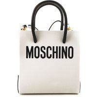 Moschino Shoulder Bag for Women On Sale, White, Leather, 2019