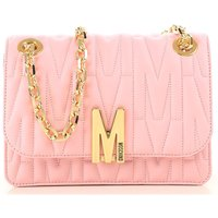 Moschino Shoulder Bag for Women On Sale, Pink, Leather, 2021