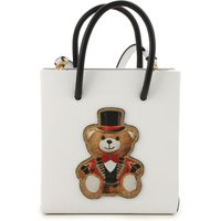 Moschino Top Handle Handbag On Sale in Outlet, White, polyurethane, 2019