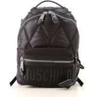 Moschino Backpack for Women, Black, Nylon, 2019