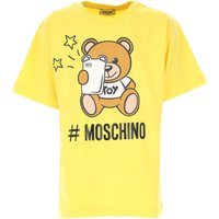 Moschino Kids T-Shirt for Boys, Yellow, Cotton, 2019, 10Y 14Y 4Y 6Y 8Y