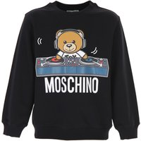 Moschino Kids Sweatshirts & Hoodies for Boys, Black, Cotton, 2019, 10Y 12Y 14Y 4Y 6Y 8Y
