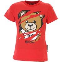 Moschino Kids T-Shirt for Boys, Red, Cotton, 2019, 10Y 4Y 5Y 8Y