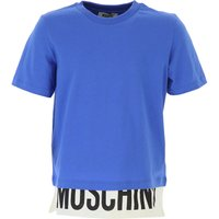 Moschino Kids T-Shirt for Boys On Sale, Blue, Cotton, 2019, 10Y 5Y