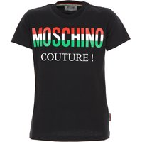 Moschino Kids T-Shirt for Boys, Black, Cotton, 2019, 10Y 14Y