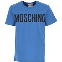 Moschino T-Shirt for Men On Sale, Blue, Cotton, 2019, 36 M