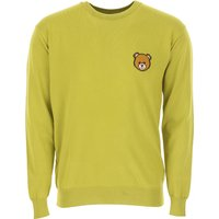 Moschino Sweater for Men Jumper On Sale, Yellow, Cotton, 2019, L XL
