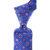 Moschino Ties On Sale, electric Bluette, Silk, 2019