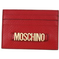 Moschino Card Holder for Women, Red, Leather, 2019