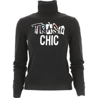 Moschino Sweater for Women Jumper On Sale in Outlet, Black, Virgin wool, 2019, 6