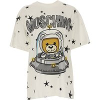 Moschino T-Shirt for Women On Sale, White, Cotton, 2019, 6