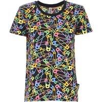 Moschino T-Shirt for Women, Black, Cotton, 2021, 10 8