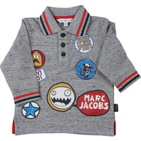 Marc Jacobs Baby Polo Shirt for Boys On Sale, Grey Melange, Cotton, 2019, 18M 2Y 3Y 6M 9M