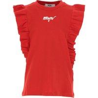 MSGM Camiseta para Niña Baratos en Rebajas, Rojo, Algodon, 2019, 10Y 14Y 6Y 8Y