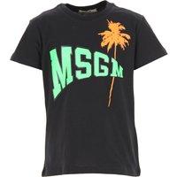 MSGM Kids T-Shirt for Boys On Sale, Black, Cotton, 2019, 4Y 8Y