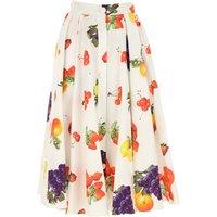 MSGM Skirt for Women On Sale, White, Cotton, 2019, US 27 - EU 40