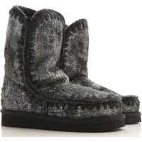 Mou Boots for Women, Booties On Sale in Outlet, Gunmetal, sheepskin, 2019, EUR 36 - UK 3 - USA 5.5 E