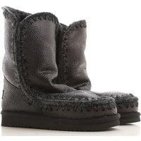 Mou Boots for Women, Booties, Black, sheepskin, 2019, EUR 37 - UK 4 - USA 6.5 EUR 39 - UK 6 - USA 8.