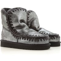 Mou Boots for Women, Booties On Sale, Silver, Leather, 2019, EUR 36 - UK 3 - USA 5.5 EUR 37 - UK 4 -