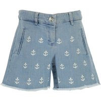 NO 21 Kids Shorts for Girls On Sale in Outlet, Blue Denim, Cotton, 2019, 30 (6 Years) 36 (9 Years) 4