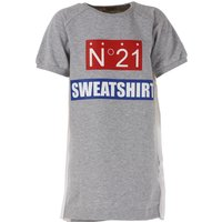 NO 21 Girls Dress On Sale in Outlet, Grey, Cotton, 2017, 30 (6 Years) 36 (9 Years) 42 (12 Years) 44