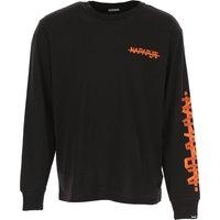 Napapijri Camiseta de Hombre, Negro, Algodon, 2019, M S