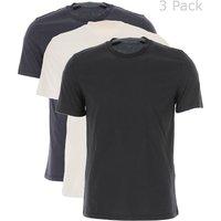 Neil Barrett T-Shirt for Men, 3 Pack Tshirt, Navy Blue, Cotton, 2017, L M S XL