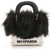 Nicopanda Top Handle Handbag, Black, Leather, 2019