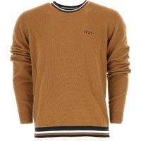 NO 21 Sweater for Men Jumper, Camel, Virgin wool, 2019, L M S XL
