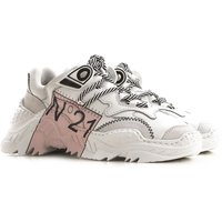 NO 21 Sneakers for Women On Sale, White, Leather, 2019, 4.5 5.5 6.5 7.5