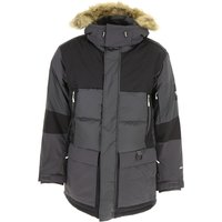 The North Face Down Jacket for Men, Puffer Ski Jacket On Sale, Asphalt Grey, polyester, 2019, L S XL
