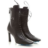 Off-White Virgil Abloh Boots for Women, Booties, Black, Leather, 2021, 3.5 4.5 5.5 6.5
