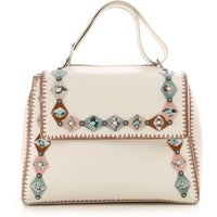 Orciani Shoulder Bag for Women, White, Leather, 2019