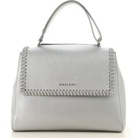 Orciani Top Handle Handbag On Sale, Silver, Leather, 2019