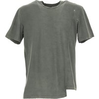 Overcome T-Shirt for Men On Sale, Military Green, Cotton, 2017, L XL