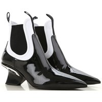 Prada Boots for Women, Booties On Sale, Black, Patent Leather, 2019, 3.5 4 5.5
