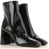 Prada Boots for Women, Booties, Black, Patent Leather, 2019, 2.5 4.5 7.5