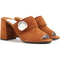 Prada Sandals for Women On Sale in Outlet, Palisander, Suede leather, 2019, 3.5 4